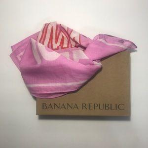 Banana Republic pink bandana NWT